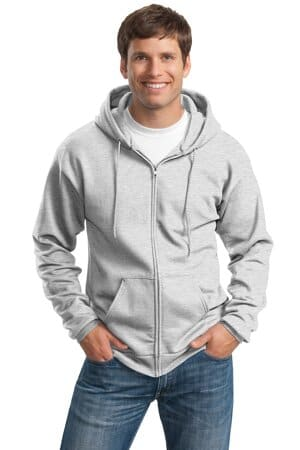 port & company tall essential fleece full-zip hooded sweatshirt pc90zht
