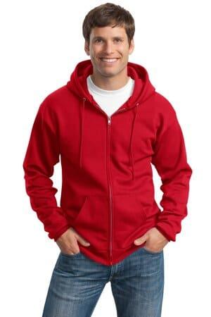 PC90ZHT port & company tall essential fleece full-zip hooded sweatshirt