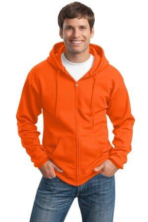 port & company tall essential fleece full-zip hooded sweatshirt pc90zht