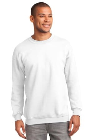 port & company-essential fleece crewneck sweatshirt pc90