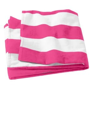 PT43 port authority cabana stripe beach towel