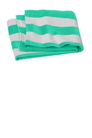 PT45 port authority value cabana stripe beach towel