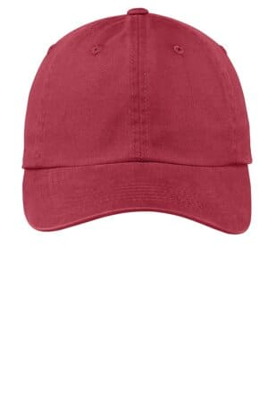 PWU port authority garment-washed cap pwu