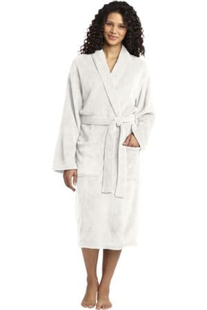 port authority plush microfleece shawl collar robe r102