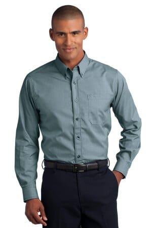 RH66 red house-mini-check non-iron button-down shirt