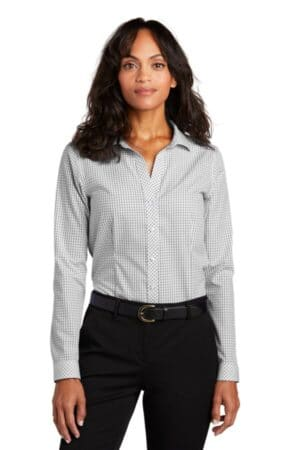 red house ladies open ground check non-iron shirt rh86