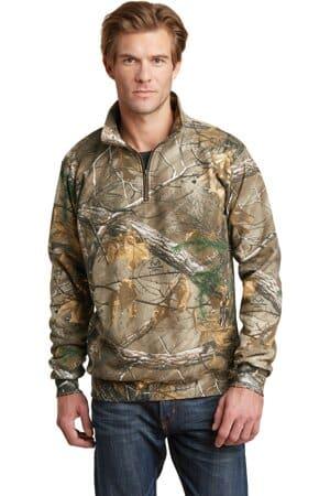 russell outdoors realtree 1/4-zip sweatshirt ro78q