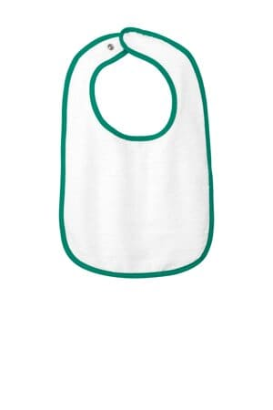 rabbit skins infant contrast trim terry bib rs1003