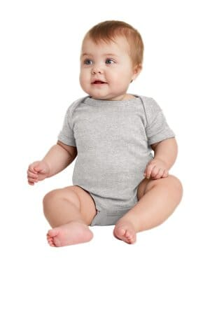 rabbit skins infant short sleeve baby rib bodysuit rs4400