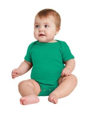 RS4400 rabbit skins infant short sleeve baby rib bodysuit