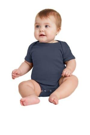 rabbit skins infant short sleeve baby rib bodysuit rs4400