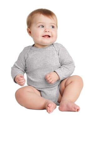rabbit skins infant long sleeve baby rib bodysuit rs4411