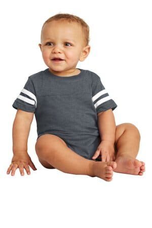rabbit skins infant football fine jersey bodysuit rs4437