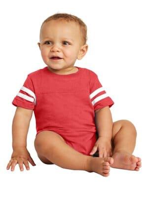 RS4437 rabbit skins infant football fine jersey bodysuit