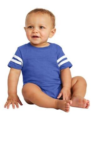rabbit skins infant football fine jersey bodysuit rs4437