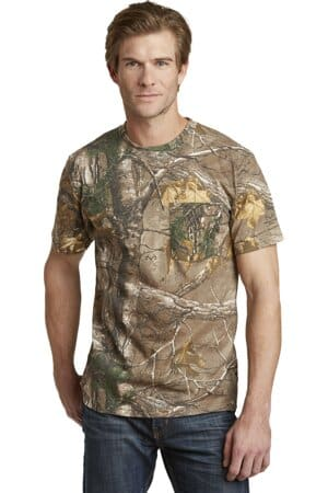 russell outdoors-realtree explorer 100% cotton t-shirt with pocket s021r
