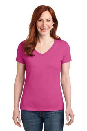 S04V hanes ladies nano-t cotton v-neck t-shirt