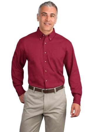 S600T port authority long sleeve twill shirt s600t