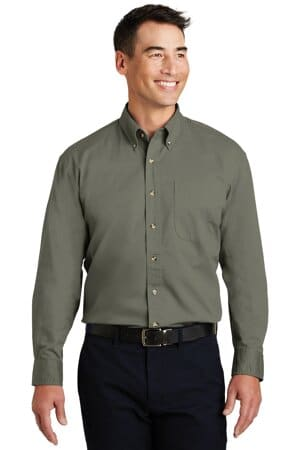 S600T port authority long sleeve twill shirt