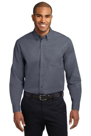 port authority extended size long sleeve easy care shirt s608es