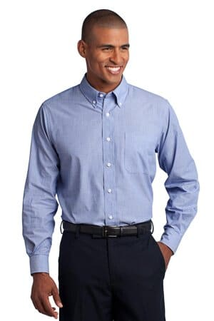 port authority tall crosshatch easy care shirt tls640