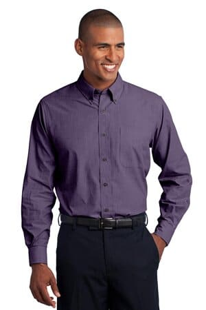 S640 port authority crosshatch easy care shirt s640