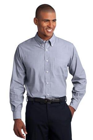 TLS640 port authority tall crosshatch easy care shirt