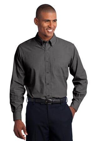 S640 port authority crosshatch easy care shirt s640