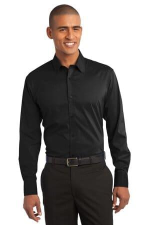 S646 port authority stretch poplin shirt s646