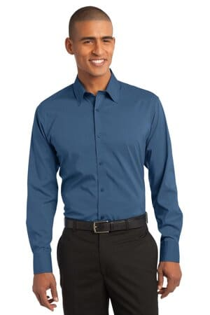 S646 port authority stretch poplin shirt s646