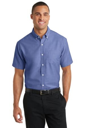 port authority short sleeve superpro oxford shirt s659