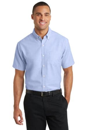 port authority short sleeve superpro oxford shirt s659