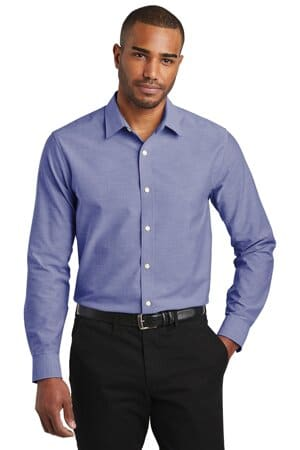 port authority slim fit superpro oxford shirt s661