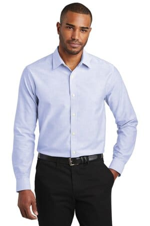 port authority slim fit superpro oxford shirt s661