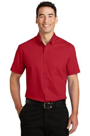 port authority short sleeve superpro twill shirt s664