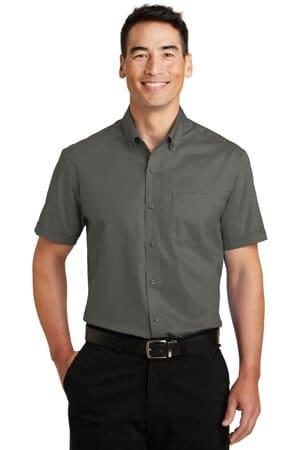 port authority short sleeve superpro twill shirt s664