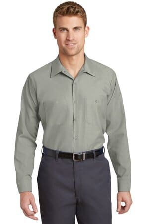 red kap long size long sleeve industrial work shirt sp14long