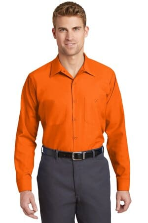 SP14LONG red kap long size long sleeve industrial work shirt