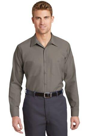 SP14 red kap long sleeve industrial work shirt
