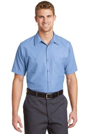 SP24LONG red kap long size short sleeve industrial work shirt