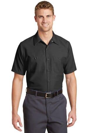 SP24 red kap short sleeve industrial work shirt