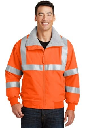 port authority enhanced visibility challenger jacket with reflective taping srj754