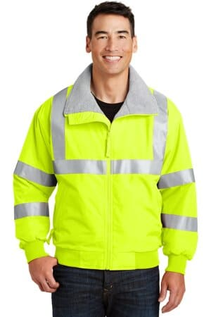 SRJ754 port authority enhanced visibility challenger jacket with reflective taping