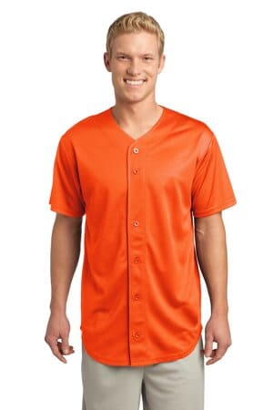 sport-tek posicharge tough mesh full-button jersey st220