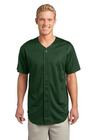 sport-tek posicharge tough mesh full-button jersey st220