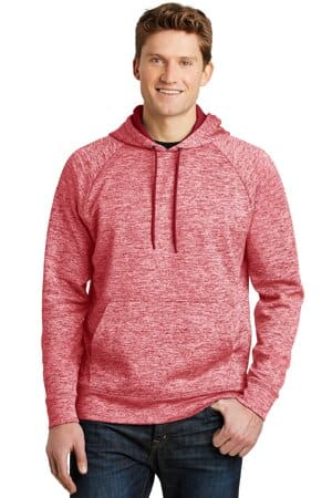 ST225 sport-tek posicharge electric heather fleece hooded pullover