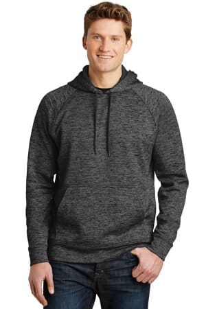 sport-tek posicharge electric heather fleece hooded pullover st225