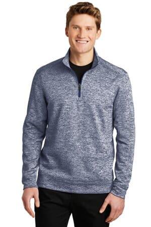 sport-tek posicharge electric heather fleece 1/4-zip pullover st226