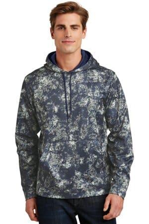 sport-tek sport-wick mineral freeze fleece hooded pullover st230