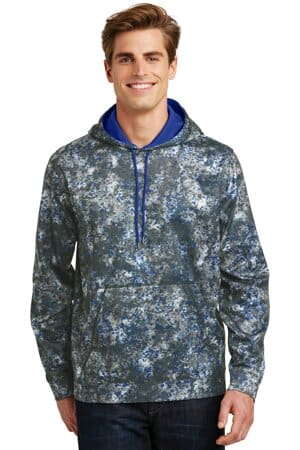 sport-tek sport-wick mineral freeze fleece hooded pullover st230